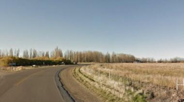 El accidente ocurrió en ruta 7,  a pocos kilómetros de Trelew (imagen google maps)
