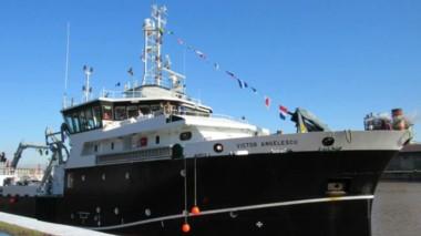 El Víctor Angelescu, un buque flamante con equipos de última generación.