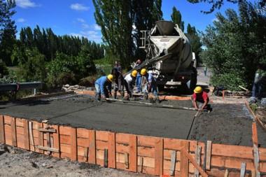 Hormigón. El municipio estima que a principios de enero ya se podrá habilitar el tránsito en la Murga.