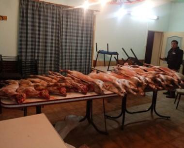 La carne secuestrada sería donada a una entidad de bien público.
