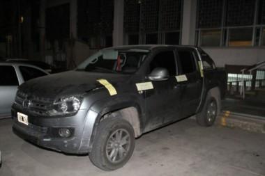 La VW Amarok en la que circulaba Espiasse al ser detenido.