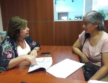 Marcilla analizó el proyecto con la jefa comunal de Atilio Vigilione.