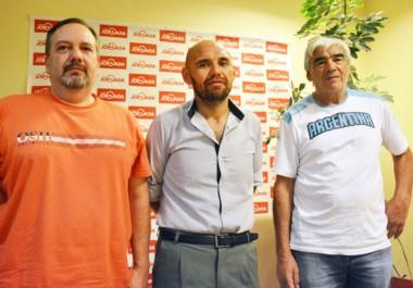 El vocal Gustavo Leske, el secretario Silvio Díaz y Tulio Gatica, presidente del TC Patagónico. Mañana será la reunión en el salón del Touring Club.