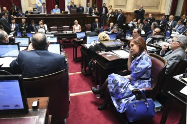 Cristina comenzó planteando una moción de privilegio este mediodía en el que mantuvo un picante cruce con la vicepresidenta Michetti.