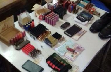 Municiones de diferentes calibre fueron confiscadas en los procedimientos realizados por la Policía.