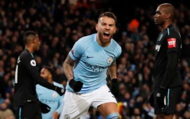 El City sigue imparable y llegó a 20 triunfos seguidos en la temporada. Con gol de Otamendi, revirtió el marcador ante West Ham.