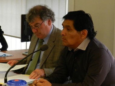Omar Segundo y su abogado, Fabián Gabalachis