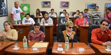La sesión simulada es una de las actividades previstas en el marco de la semana de la discapacidad.