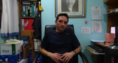 El secretario de la UOM de Río Grande, Marcos Linares. (foto gentileza de Red 23 Noticias)