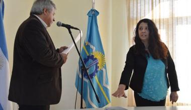 Stella Velázquez es empleada de planta del municipio de Trevelin.