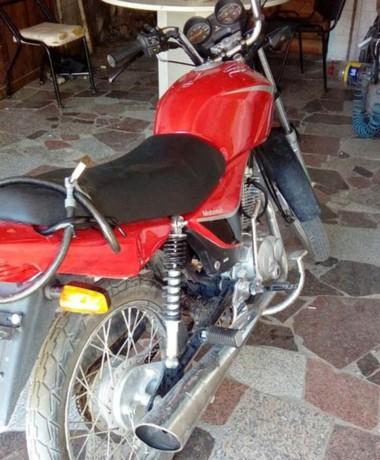 La moto se encontraba estacionada al momento de ser detectada.