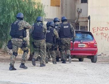 GEOP. Hubo varios allanamientos y cooperaron fuerzas especiales.