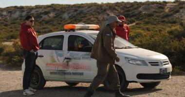 Preparados. Una postal de cómo serán los controles para evitar problemas entre el turismo en Madryn.