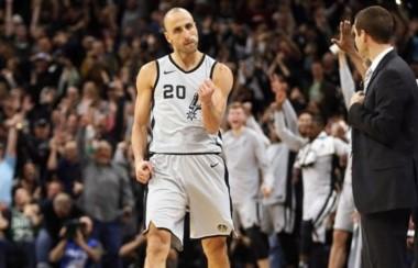 """El """"pibe de 40"""" lo hizo de nuevo: Manu metió el triple ganador de los Spurs y la NBA se rindió a sus pies."""