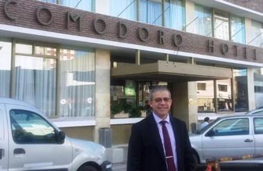 De cadete a gerente. José Rodríguez está al frente del Comodoro Hotel donde trabaja hace veintiséis años.
