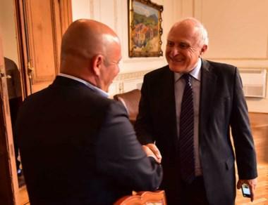 El intendente Sastre y el encuentro con el gobernador de Santa Fe.