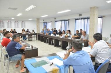 Javier Treuque presidió la reunión de presidentes celebrada el viernes por la noche en la Liga del Valle.