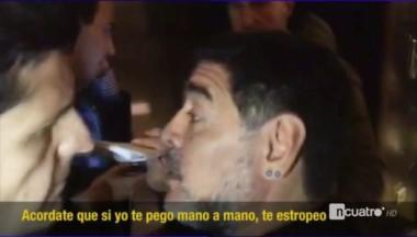 Maradona amenaza a un periodista: