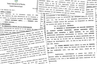 El auto de procesamiento firmado por el juez Otranto es extenso y detallado. Y tiene datos contundentes.