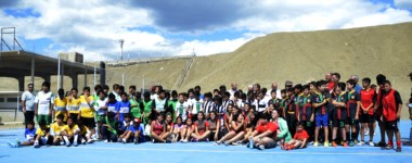 Varios equipos participaron del encuentro de fútbol infantil en la inauguración del playón deportivo del club Portugués en Comodoro.