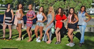 Las candidatas a reina de la Fiesta del Pulpo que se llevará a cabo  en el predio de Playa Bonita.