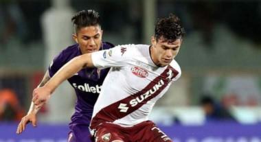 Lucas Boyé, ex jugador de River, fue titular en Torino que empató con Fiorentina.