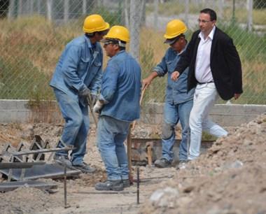 El intendente Maderna recorrió las obras del Polideportivo Norte.