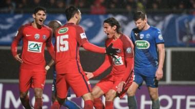 ¨Pastore (15) y Cavani meten al PSG entre los 8 mejores de la Copa de Francia.