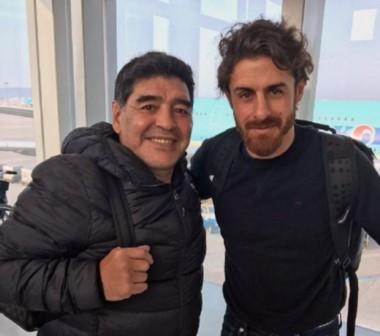 Diego Maradona y Pablo Aimar fueron invitados por la FIFA para participar del sorteo mundialista.