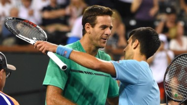 Del Potro no pudo con Novak Djokovic y cayo en Indian Wells.
