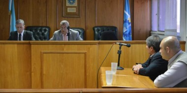 Los jueces José García y Sergio Piñeda, cuando confirmaron la libertad de Emilio Nicolás.