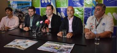 Safar, Ñonquepán, Vargas, Aidar Bestene y Bucemo, ayer en la conferencia de prensa presentando el SBK.