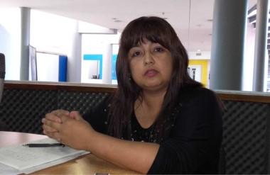 Karina Santibáñez, de la Asociación de Síndrome de Down en Trelew, explicó las actividades.