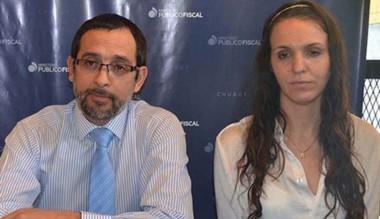 Fernando Rivarola y Ana Bottini, fiscales de Esquel.