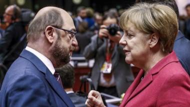 Merkel y Schulz. Ayer rivales, ¿ahora socios?