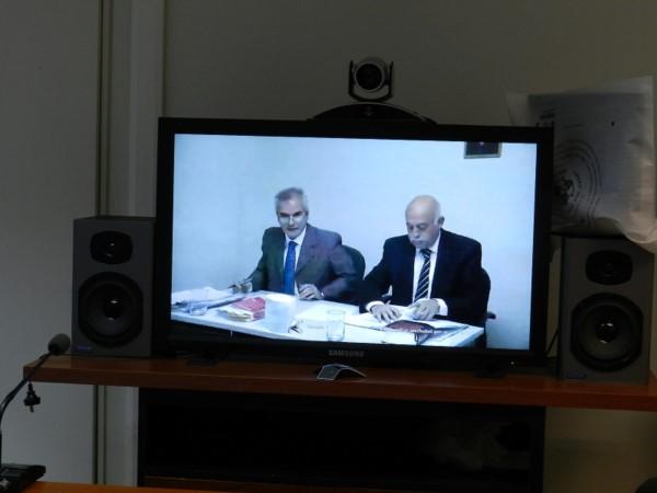 Los jueces Rosales y Pérez en una audiencia anterior.
