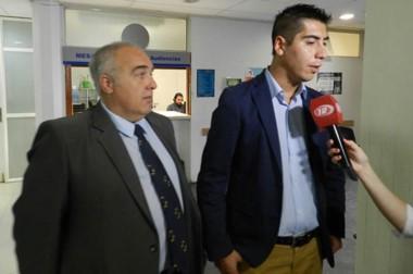 El fiscal Jorge Bugueño y el querellante Carlos Villada estuvieron en la audiencia de ayer a la mañana.