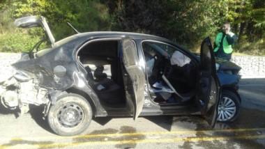 Estado en el que quedó el vehículo tras el choque