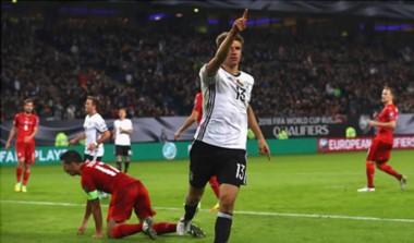 Alemania cumplió y goleó a la selección de Azerbaiyán.