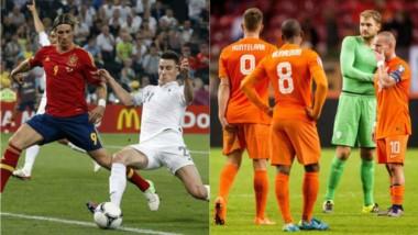 Amistosos de lujo en el fútbol europeo: Francia-España y Holanda-Italia.