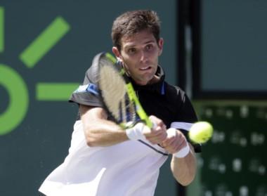 Federico Delbonis, último argentino en el Miami Open, cayó ante Kei Nishikori.
