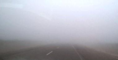 En algunos tramos la niebla dificulta la visibilidad