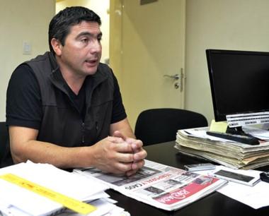 El intendente interino de El Hoyo en la redacción de Diario Jornada.