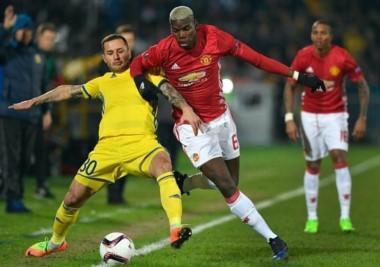 En su visita al Rostov, Manchester United logró un empate por la ida de octavos.