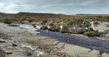 Desde el Ministerio de Ambiente estuvieron coordinando tareas con la empresa para la remediación.