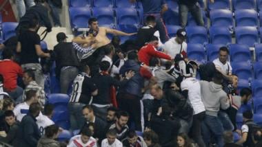 ncidentes violentos retrasan el Olympique Lyon-Besiktas.