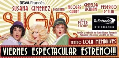 Sugar es protagonizada por Griselda Siciliani, Federico D'Elía y Nicolas Cabré.