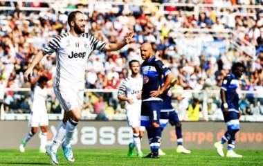 Tres dobletes en los últimos 4 partidos (Napoli, Chievo, Pescara): 8 en total con Juventus.