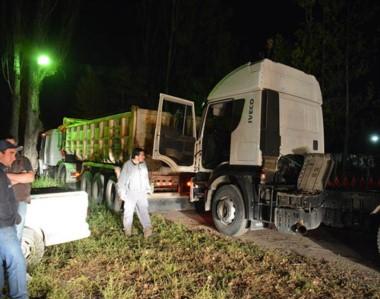Bomberos asistieron al  lugar junto a personal de Corfo que anocheche realizaba pozos para sacar agua.