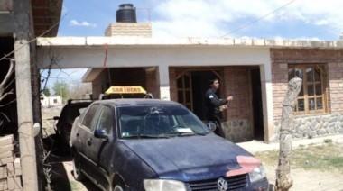 Frente de la vivienda donde la dinamita acabó con la suegra y el remisero (Gentileza: El Esquiú).